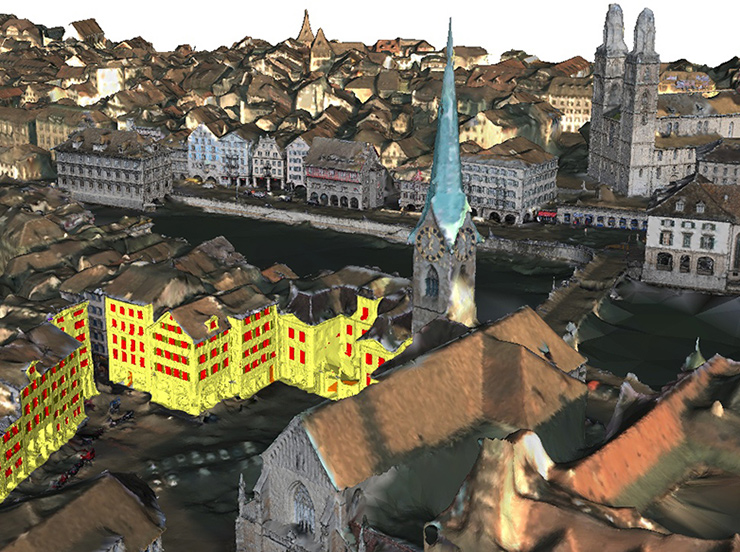 3D model of Zurich built by VarCity program