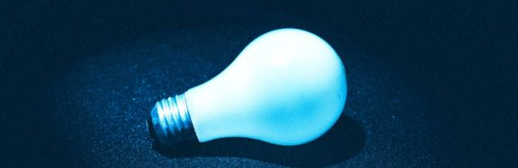 lightbulb in twitter blue