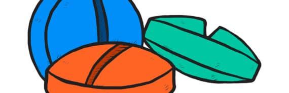 three pills illustration