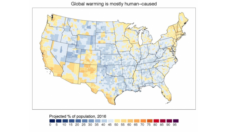 climate change belief map