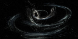LIGO illustration of two black holes