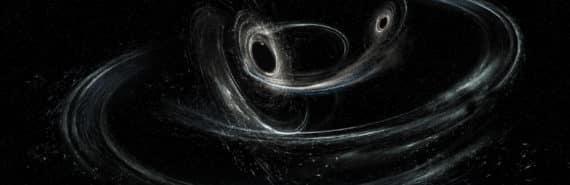 LIGO illustration of two black holes