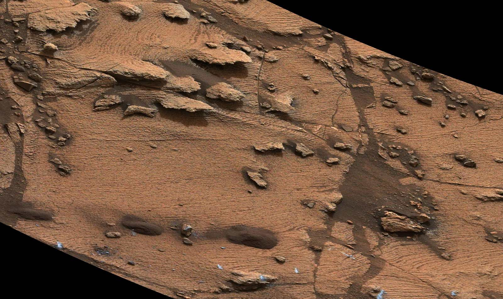 Sediment deposition on Mars