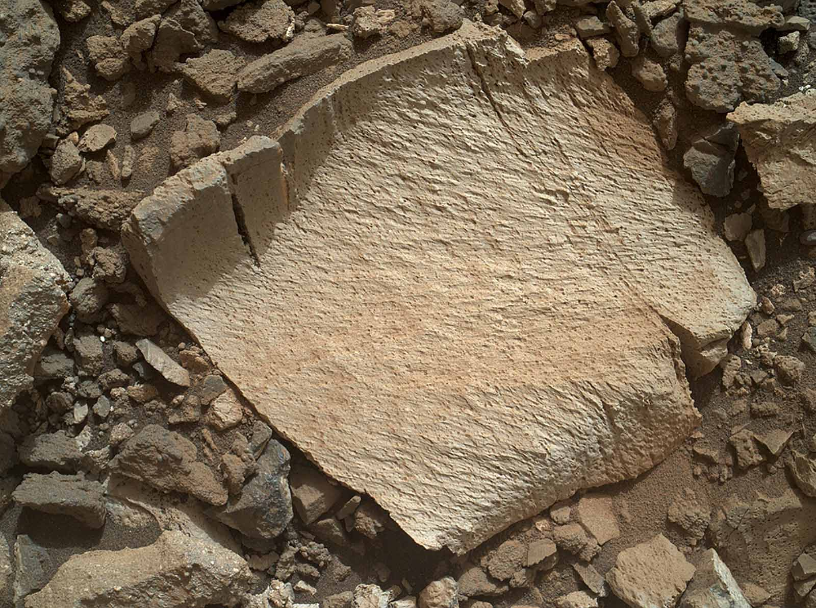 A rock from the deepest part of the ancient Martian lake
