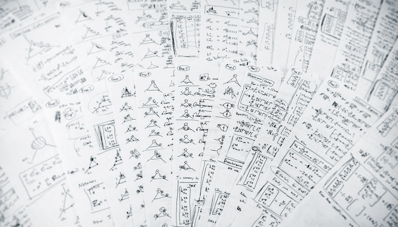 Sho Yaida's 30 handwritten pages of calculations.