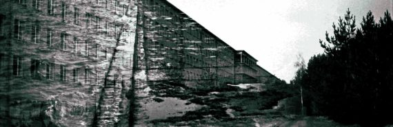 double exposure of nazi-era building