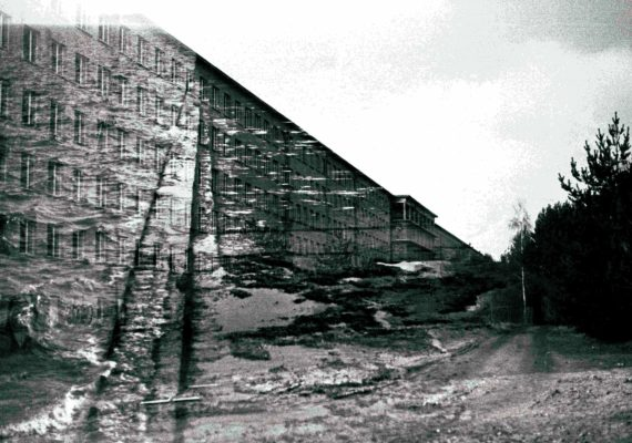 double exposure of nazi-era building