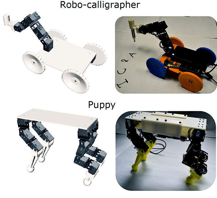 sample robot designs from CMU's software tool