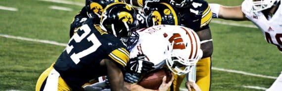 American football tackle