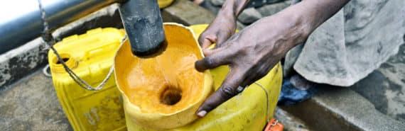 filling water jug