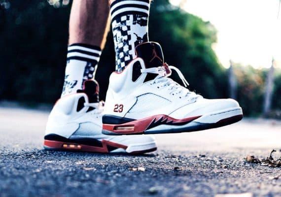 walking in sneakers