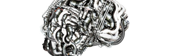 brain depicted as engine