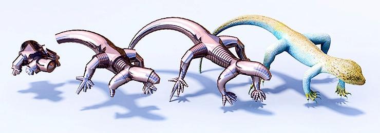 telescoping lizard bot design
