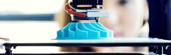 A 3D printer printing