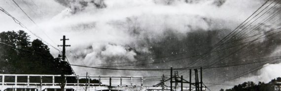 atomic cloud over Nagasaki, Japan