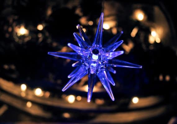 blue light ornament
