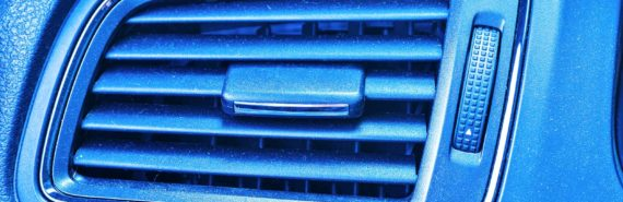 blue ac vent in car