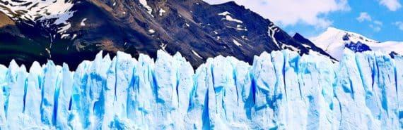 glacier wall of ice