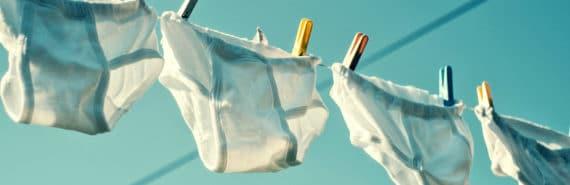underwear on clothesline