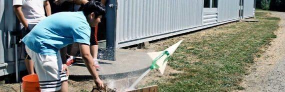 water rocket test fire