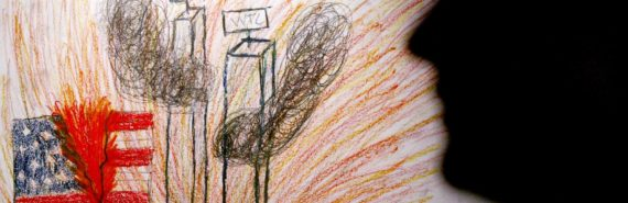 child's drawing of 9/11
