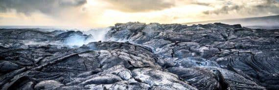 Hawaiian lava rock