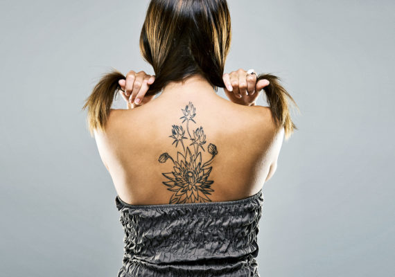 back tattoo on the spine