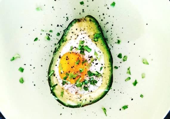 egg baked in avocado - ketogenic diet