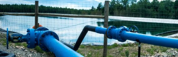 fracking water containment pond