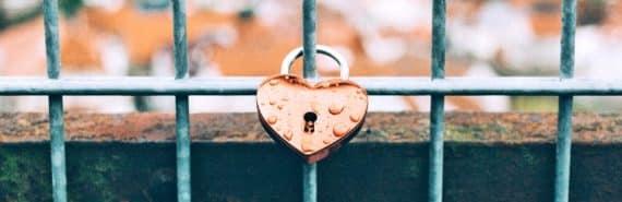 heart-shaped lock