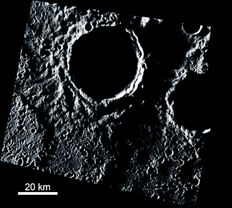 mercury ice image with scale bar