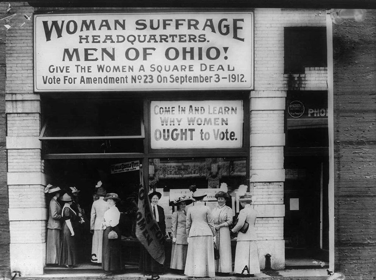 men's league for women's suffrage - suffrage HQ in Cleveland