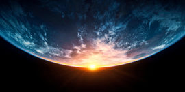 sunrise over the Earth