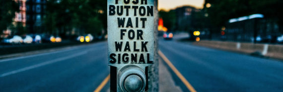 walk button at intersection