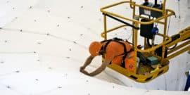 building the concrete roof prototype