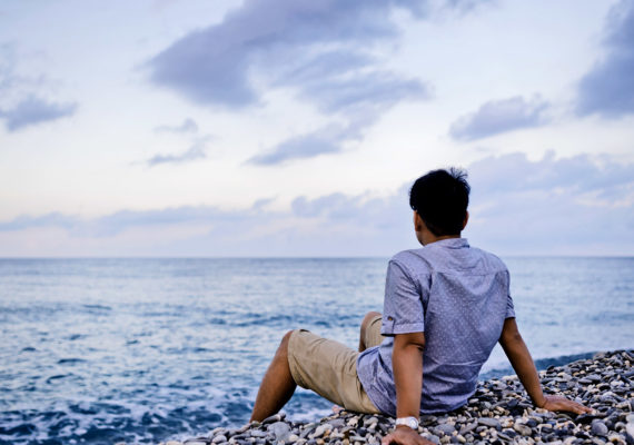 calm on the shore
