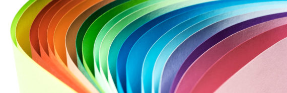 bending colored paper