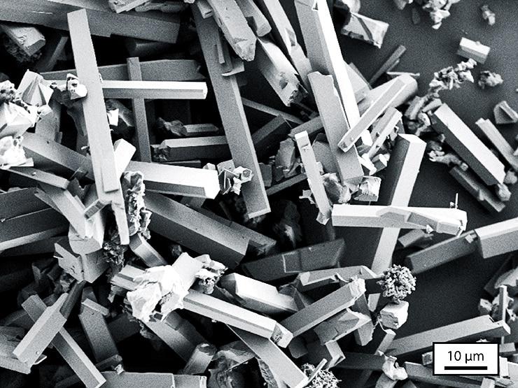 microrod particles