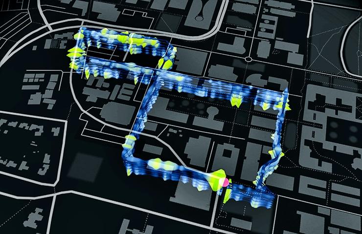 optical fibers loop under Stanford