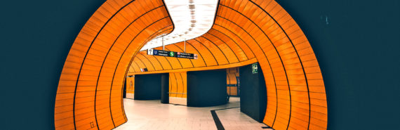 orange subway tunnel