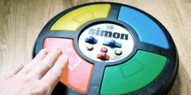 hand touches simon memory game