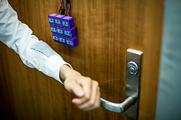 smart fabric door lock
