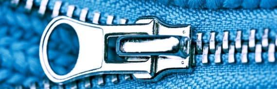 """DNA """"zip"""" concept image"""