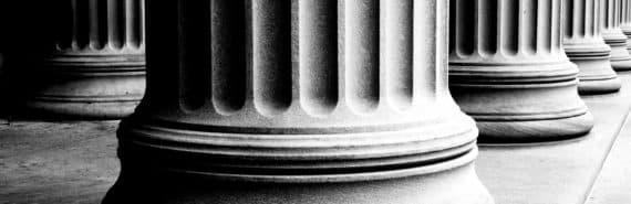 pillars in b/w