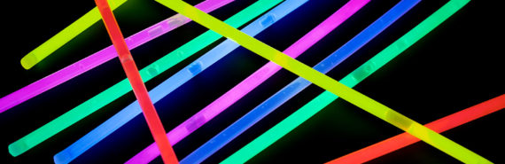 glow sticks (nanotubes tumors test concept)