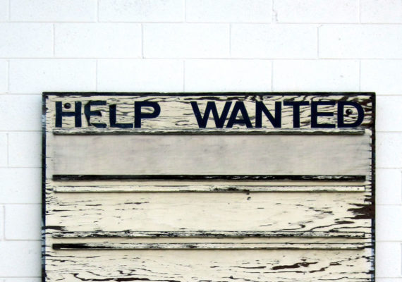 vintage help wanted sign
