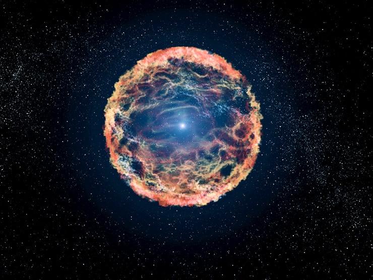 artist's impression of a supernova