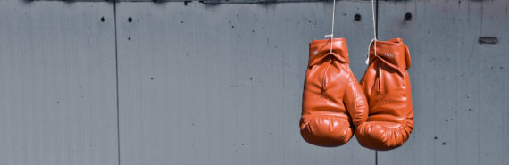 boxing gloves hanging (CRISPR for ALS concept)