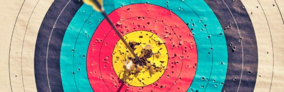 arrow in center of bull's eye - APOE target concept