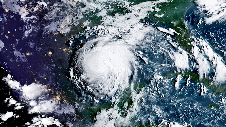 Hurricane Harvey from space